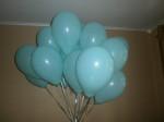 гелиевые(летающие) шары бирюзового цвета 25см