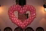 16- красное сердце из воздушных шаров диаметр 1,5 метра