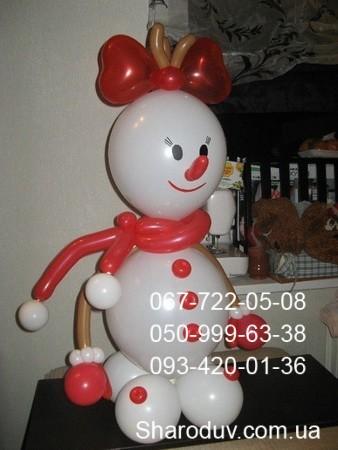 3-снеговик из шаров, 160см-180грн.
