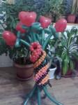 5-цветы из шаров 10грн./шт.
