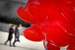 8 букет из сердец надутых гелием