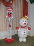5- снеговик из шаров, 160см-170грн.