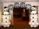 14 снеговик из шаров