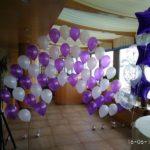 арки из летающих шаров надутых гелием