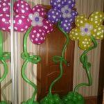 цветы из летающих шариков надутых гелием, 170грн/шт.