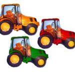 шарики фигуры тракторы зеленый, красный, желтый