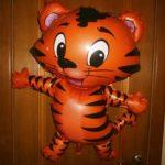 шар фигура из фольги тигр, 200грн