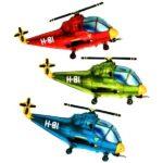 шарики вертолеты красный, зеленый, синий 200грн