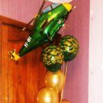 шарик фигура вертолет зеленый 200грн