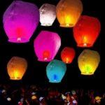китайский небесный фонарик в форме купола, 80см