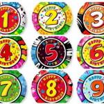 шары из фольги круглые с изображением цифр от одного до 9, диаметр 45см, цена 90грн/шт.