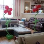 цветы сделанные из шаров с гелием, 110грн/шт.
