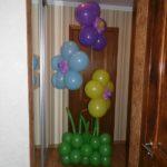 цветы из гелиевых шаров, травка 520грн за композицию
