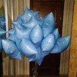 шарики звезды, цвет голубой, 45см - 85грн/шт