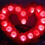 светящееся сердце из шаров со светодиодами 450грн