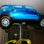 шарик машинка джип синий 200грн