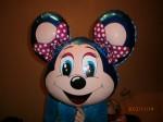 фольгированный шарик голова мышки Минни или Лолли