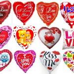 шарики сердечки надутые гелием, фольга, надуты гелием, 45см - 90грн/шт.