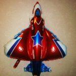 шарик самолет истребитель, цвет красный 200грн