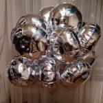 шарики из фольги круглые, 45см, серебро, 85грн/шт.