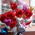 шарики из фольги в форме сердца разных цветов 45см - 85грн/шт.