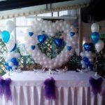 свадебное украшение зала шарами