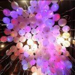 украшение зала светящимися шарами 25см - 40грн/шт.