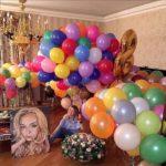 украшение комнаты шарами на день рождения девушки