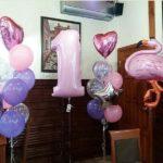 украшение дня рождения шарами девочке 1 год