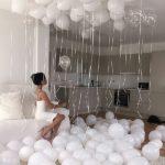 украшение квартиры гелиевыми и воздушными шарами на день рождения
