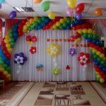 украшение зала шарами на выпускной в детском саду