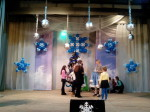 украшение на Новый года снежинки из шариков