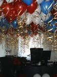 украшение кабинета директора шарами