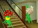 украсить офиса шарами. Цветок из шаров
