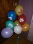 4 гелиевые (гелевые) шары с надписью с днем варенья и животными котенок, заяц, пес, медведь