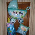 шары из фольги на выписку из роддома, коляся, бутылочка, квадратный шарик