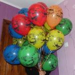 обработанные летающие шарики с гелием с машинками, диаметр 30см. 35грн/шт.