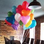шарики разноцветные в форме сердца, 25см, 32грн/шт.