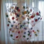 прозрачный шарик в горох 30см, 22грн/шт