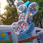 прозрачный шарик 30см с конфетти - 45грн/шт., звезда 80грн/шт