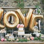 шарики надпись LOVE высота 80см цвет золото