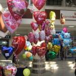 шарики сердце 45 см с надписью LOVE