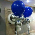 сферические шары серебро, размер 45см - 450грн/шт.