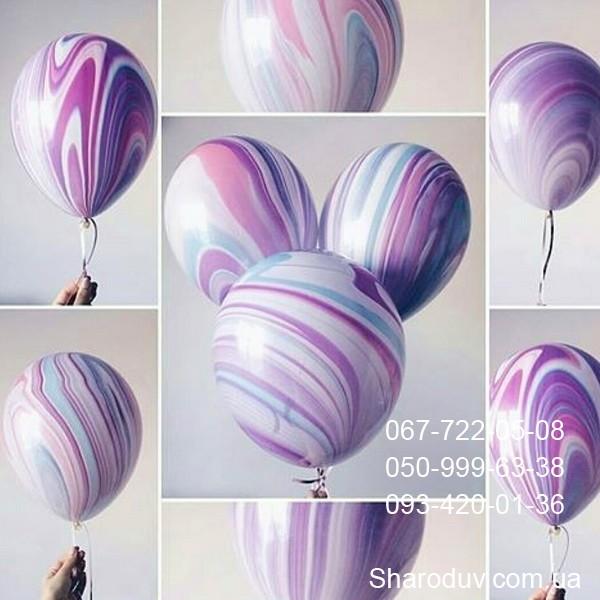шарики с мраморным рисунком, размер 27,5см, цена 30грн/шт.