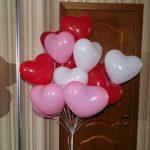 красные, розовые, белые шарики сердце 25см - 19грн/шт.