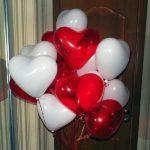 красные, белые шарики сердце 25см - 19грн/шт.