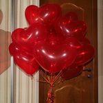 красные шарики сердце 25см - 19грн/шт.