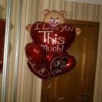 шарики в форме сердец с надписью я тебя люблю, красные, 45см - 90грн/шт.