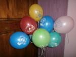 7 шарики для детей с тематикой цирк: клоун, кот, бегемот, медведь
