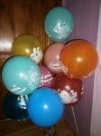 3 шарики ассорти с детскими рисунками с днем рождения 30см